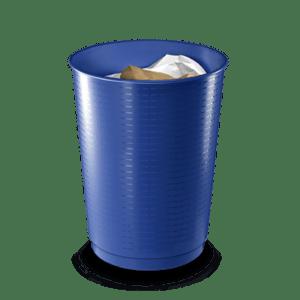 CEP Waste bin 133 blue