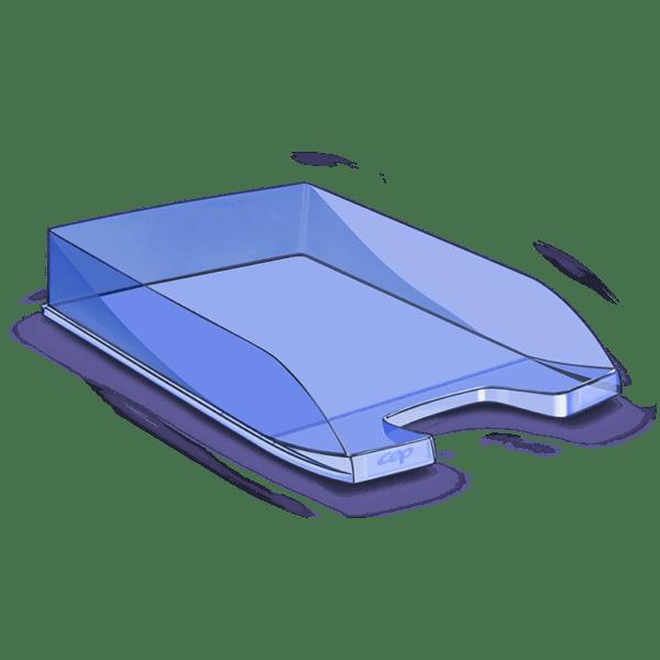 CEP Corbeille à courrier 100F bleu tonic