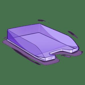 CEP Corbeille à courrier 100F violet tonic