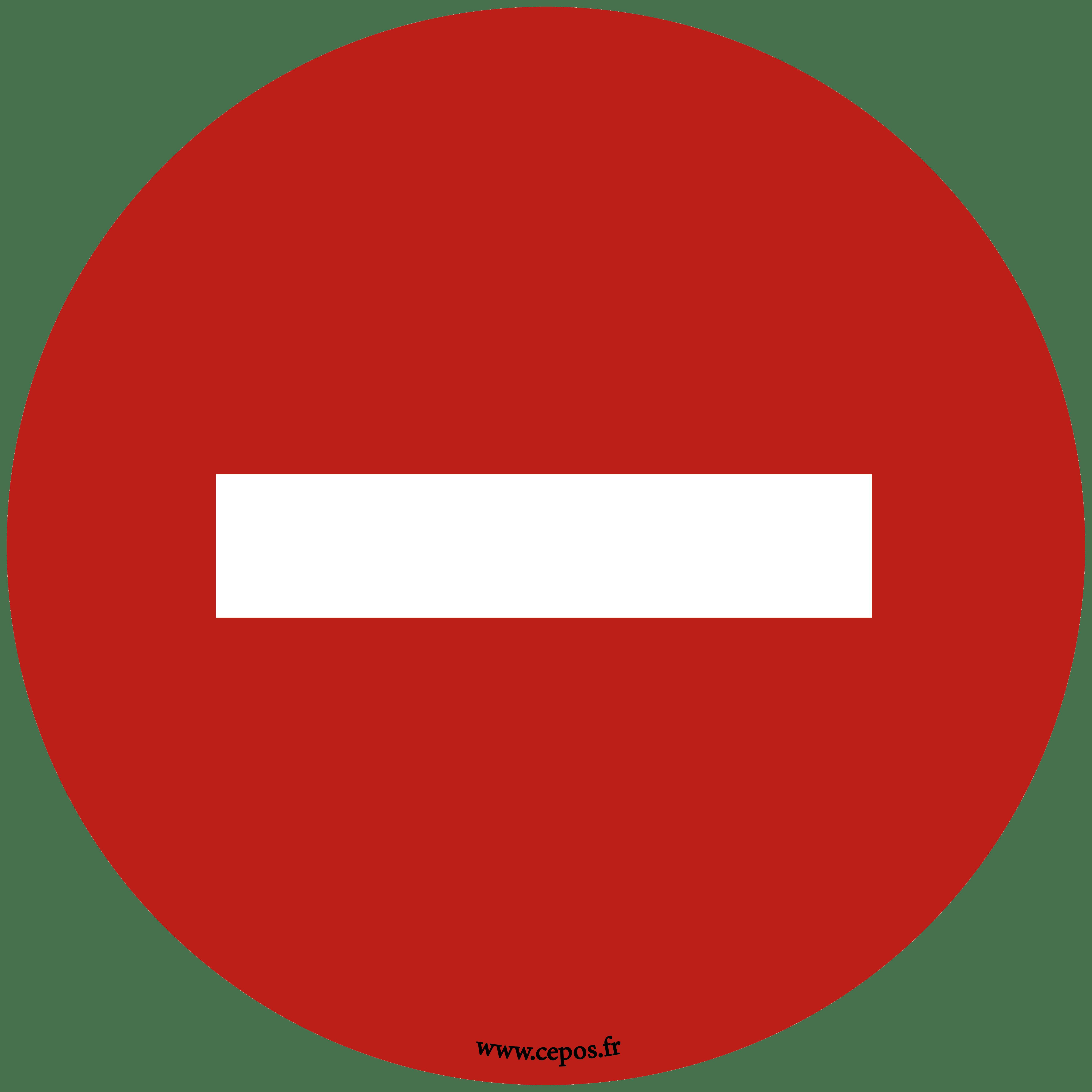 CEP Sticker Sens interdit sol Ø cm 7010-004