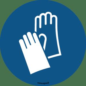 CEP Sticker mural Port des gants obligatoire 7010-093