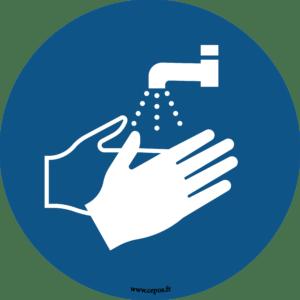 CEP Sticker mural Lavage des mains obligatoire 7010-113