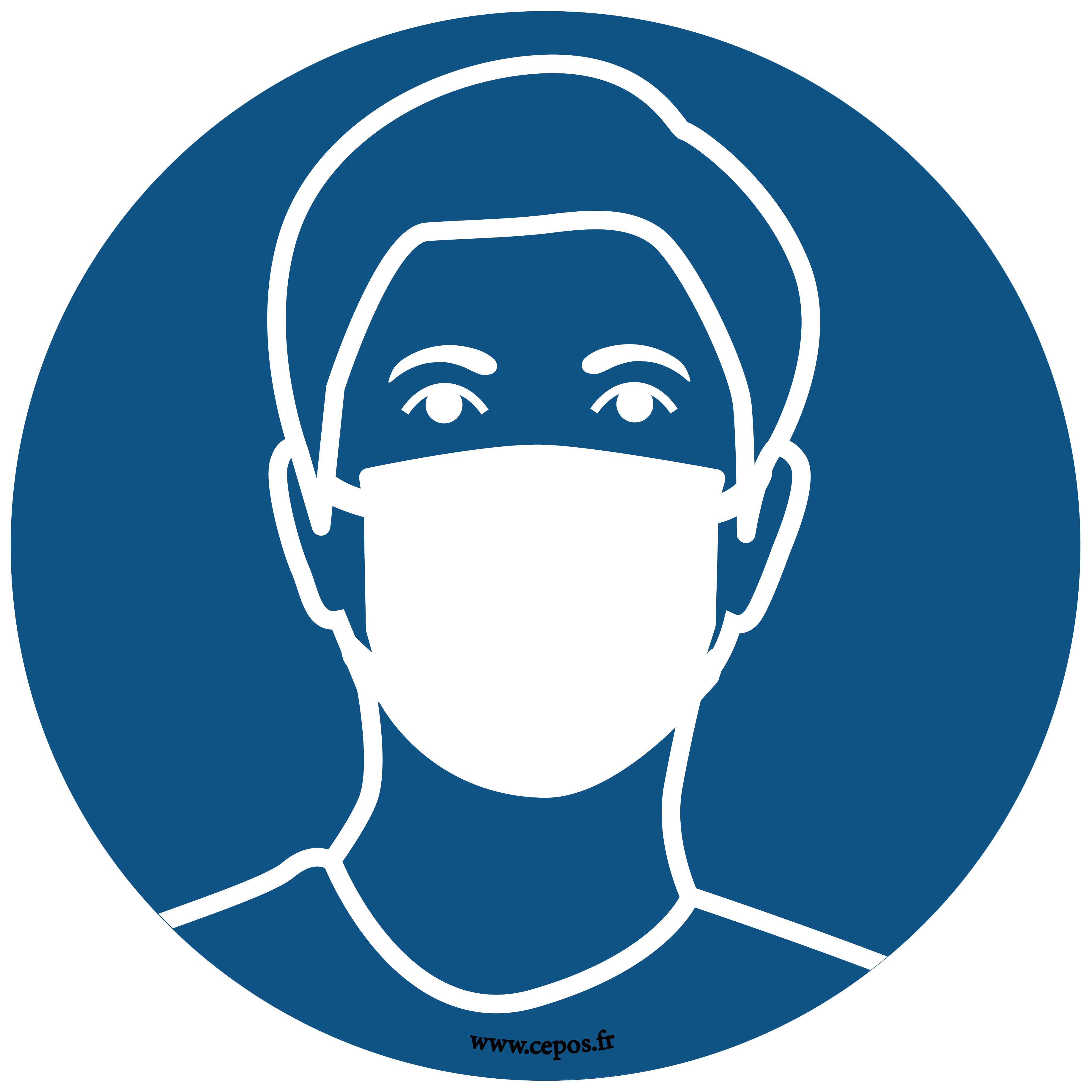 CEP Sticker mural Port du masque obligatoire 7010-163
