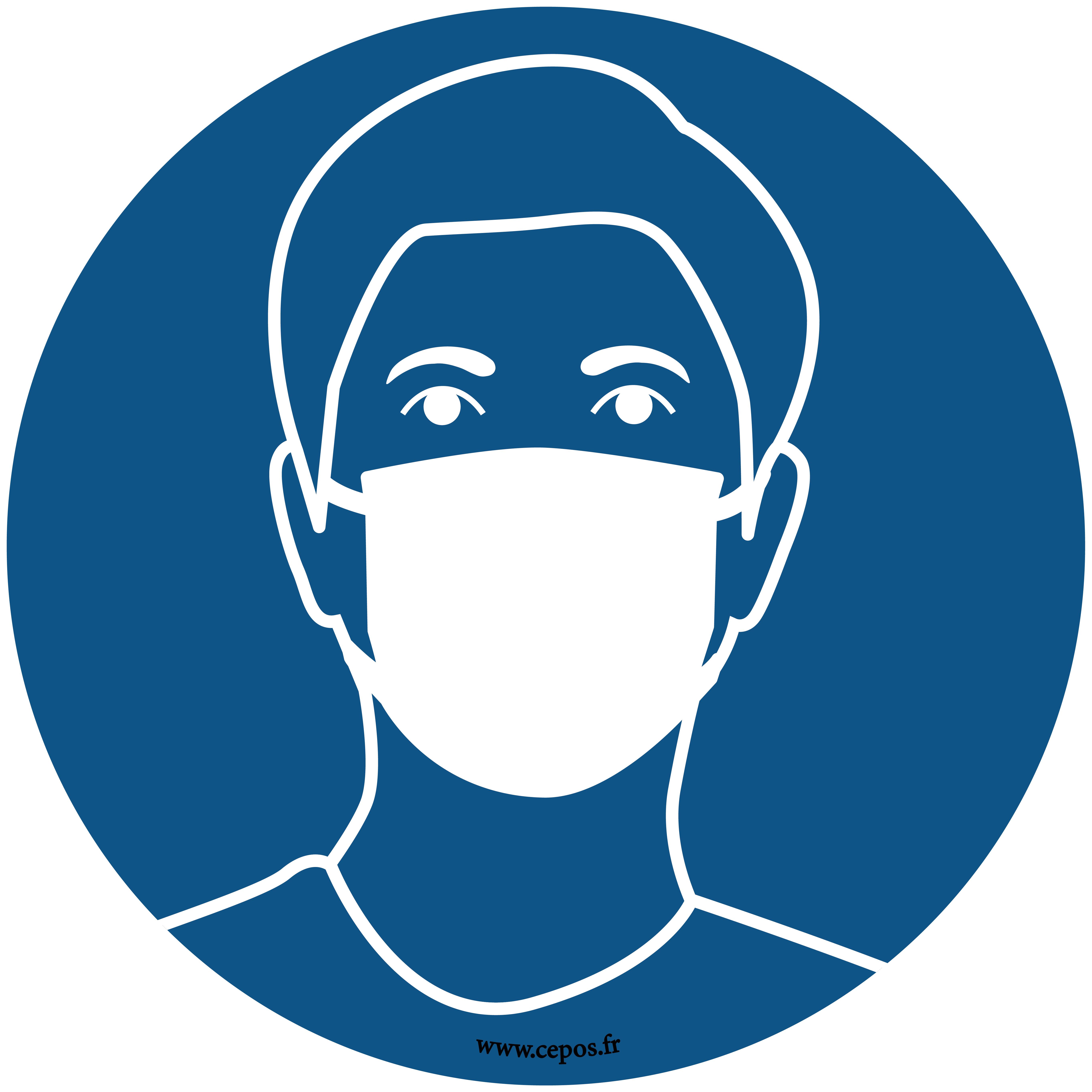 CEP Sticker pour sol Port du masque obligatoire 7010-164