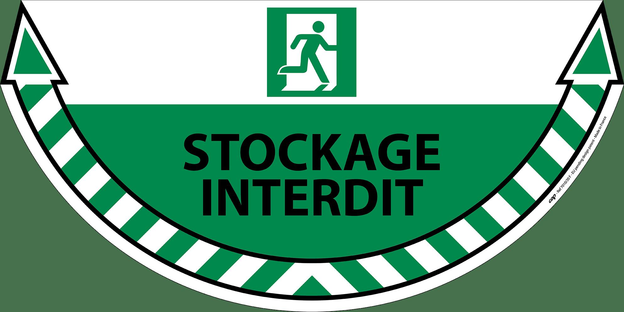 CEP Sticker Sortie de secours 7010-20 FR