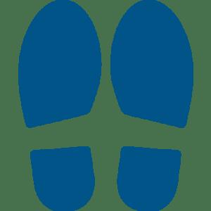 CEP Jeu de empreintes de pas pour pose au sol coloris bleu 7010-22