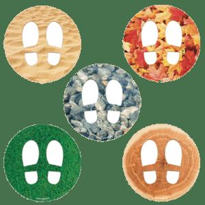 CEP Jeu de stickers empreintes de pas deco 7010-24