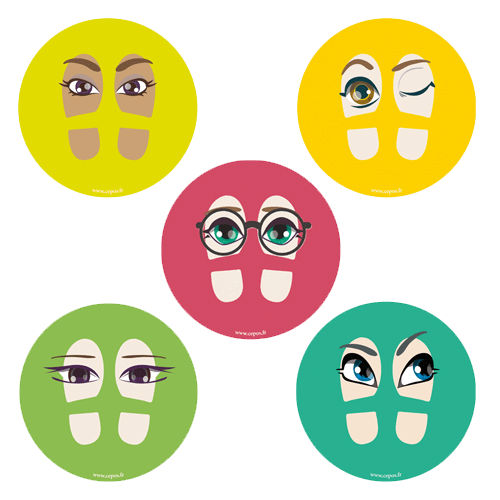 CEP Jeu de stickers de pas fantaisie 7010-26