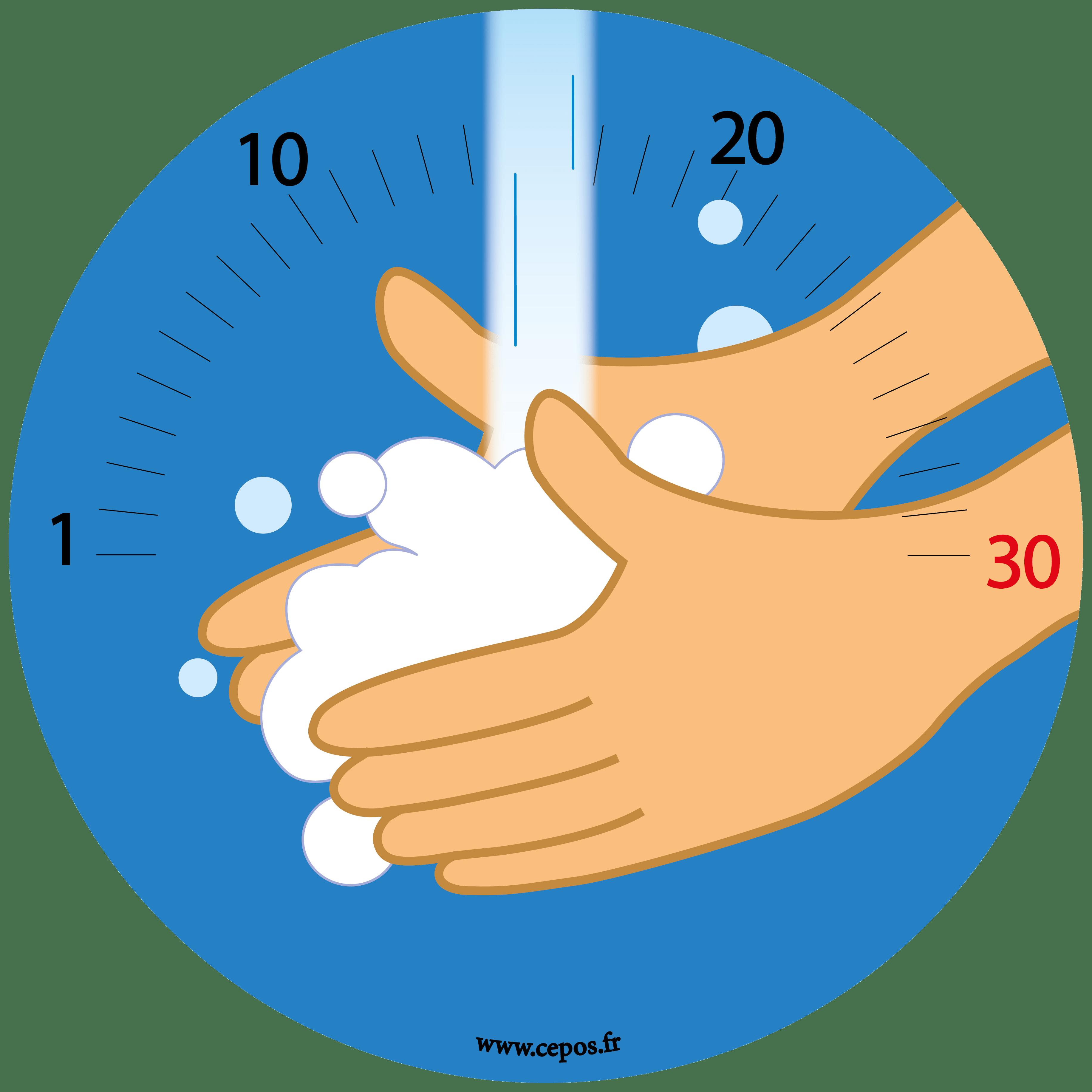 CEP Sticker mural Lavage des mains obligatoire Scolaire 7010-703