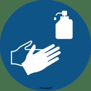 CEP Sticker mural Désinfection des mains obligatoire 7010-813