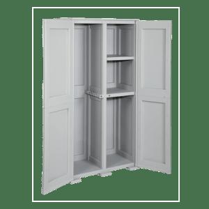 CEP Armoire haute 2 portes avec emplacement balai