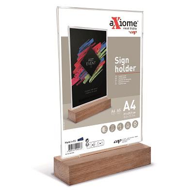 CEP Support visuel vertical A avec socle en bois AX3-3WD-0005